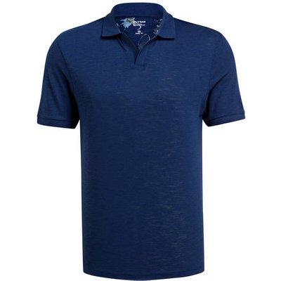 OLYMP Olymp Jersey-Poloshirt blau