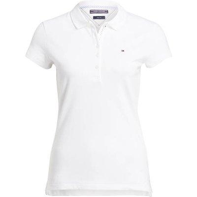Tommy Hilfiger Piqué-Poloshirt New Chiara weiss