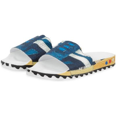 ADIDAS Adidas By Raf Simons Pantolette Rs L.A. Adilette blau