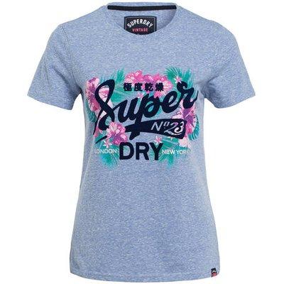 Superdry T-Shirt blau