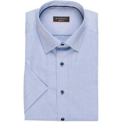 ETERNA Eterna Halbarm-Hemd Modern Fit blau