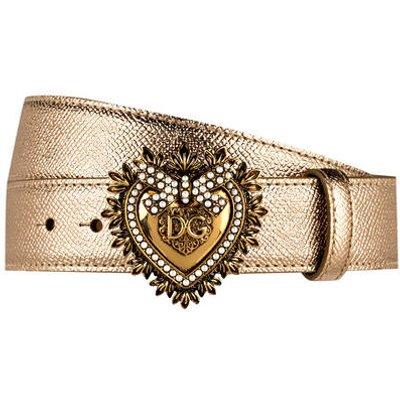 DOLCE & GABBANA Dolce&Gabbana Ledergürtel Devotion gold