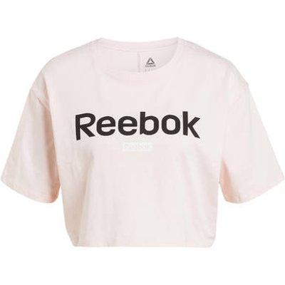 REEBOK Reebok Cropped-Shirt Essentials Linear Logo rosa