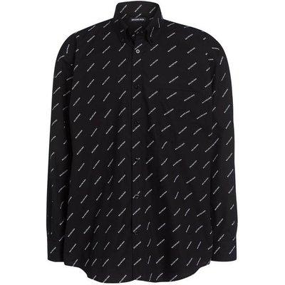 Balenciaga Hemd Comfort Fit schwarz