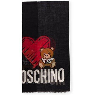 Moschino Schal schwarz