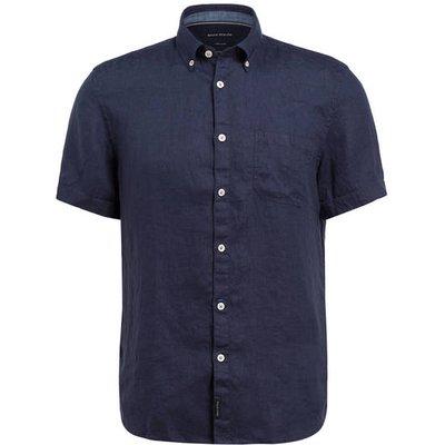 Marc O'polo Halbarm-Hemd Regular Fit Aus Leinen blau