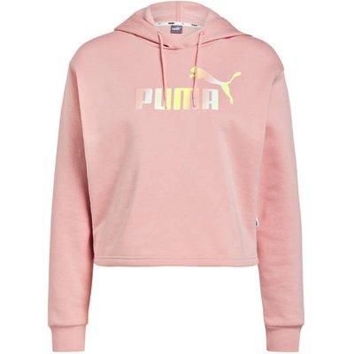Puma Cropped-Hoodie Elevated Essentials rosa