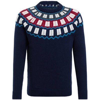 Gant Norweger Pullover blau