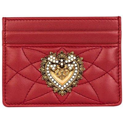 DOLCE & GABBANA Dolce&Gabbana Kartenetui Devotion rot