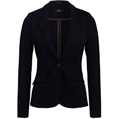 S.Oliver Black Label Jersey-Blazer schwarz
