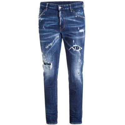 dsquared2 Destroyed Jeans Cool Guy Slim Fit blau