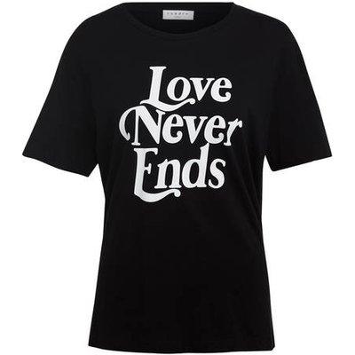 Sandro T-Shirt schwarz