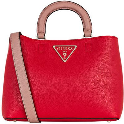 GUESS Guess Handtasche Aretha Girlfriend Satchel rot