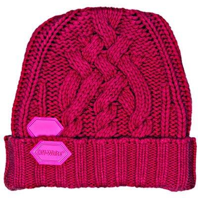 Off-White Mütze Aus Schurwolle pink