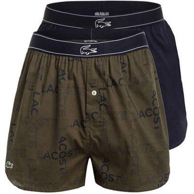 LACOSTE Lacoste 2er-Pack Web-Boxershorts blau