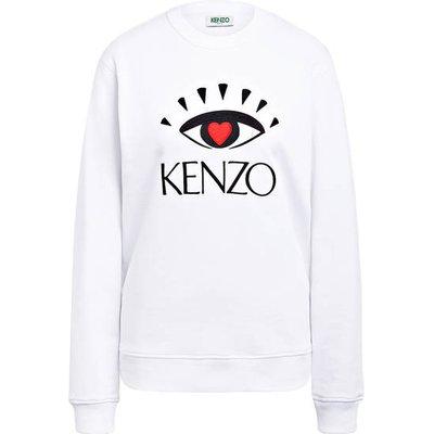 Kenzo Sweatshirt Mit Stickereien weiss
