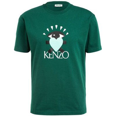 Kenzo T-Shirt Cupid Heart Skate gruen