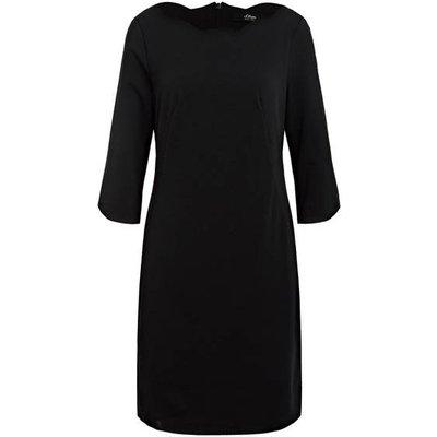 S.Oliver Black Label Kleid Mit 3/4-Arm schwarz