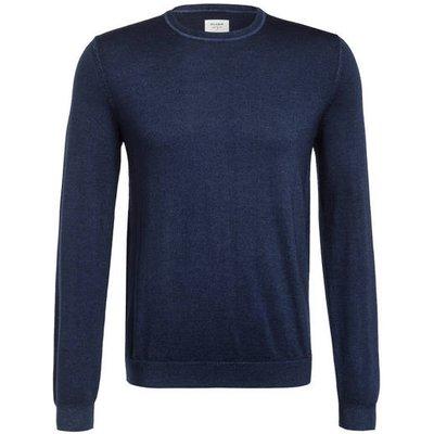 Olymp Schurwoll-Pullover blau