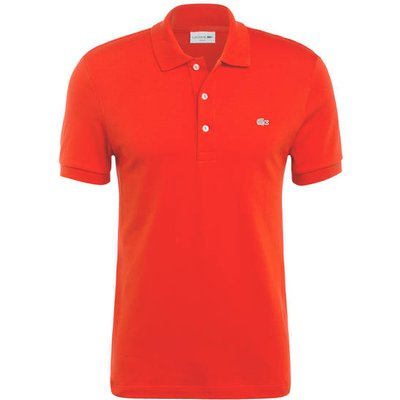 Lacoste Stretch-Poloshirt Slim Fit rot