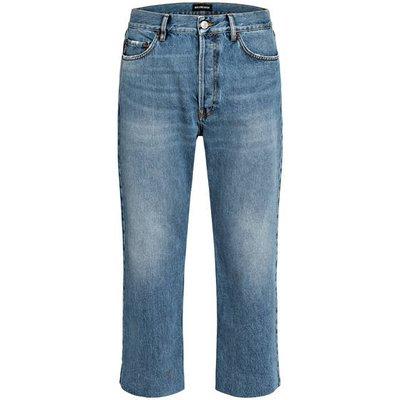 Balenciaga Jeans Regular Fit Mit Verkürzter Beinlänge blau