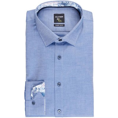 Olymp Hemd No. Six Super Slim blau | OLYMP SALE