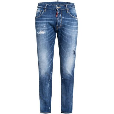 dsquared2 Destroyed Bootcut Jeans Extra Slim Fit blau