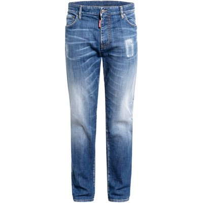 dsquared2 Destroyed Bootcut Jeans I Love d2 Extra Slim Fit blau