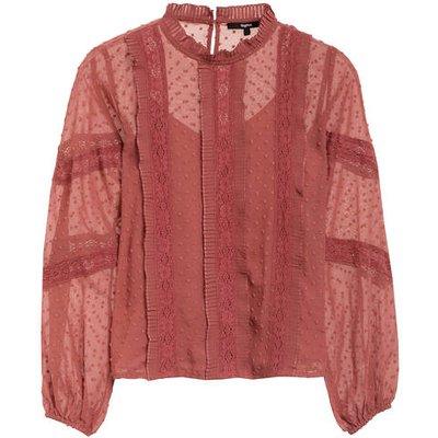Tigha Blusenshirt Sohana Mit Spitzenbesatz rosa
