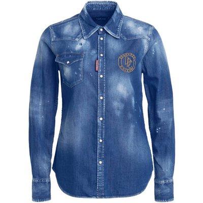 dsquared2 Jeansbluse blau