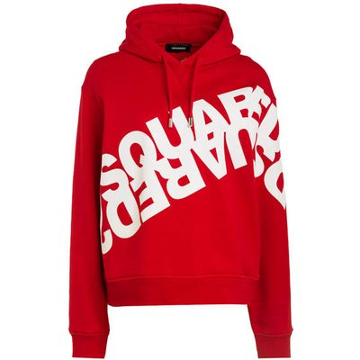 dsquared2 Oversized-Hoodie rot
