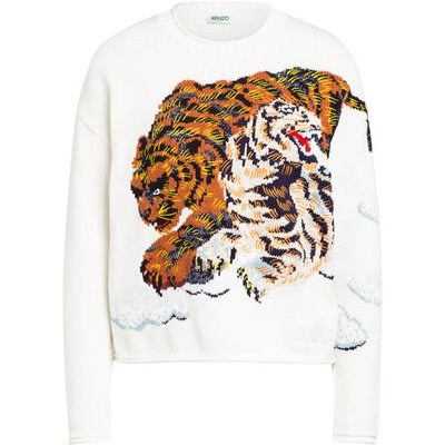 Kenzo Pullover Tiger weiss
