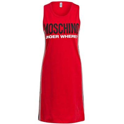 Moschino Lounge-Kleid Mit Galonstreifen rot