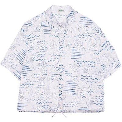 Kenzo Hemdbluse blau