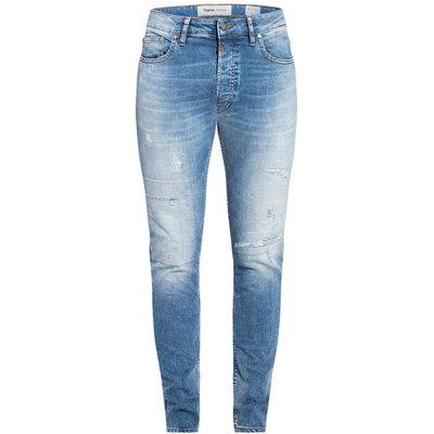 Tigha Destroyed-Jeans Morten Slim Fit blau