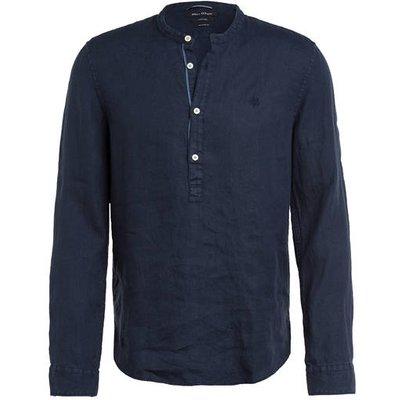 Marc O'polo Leinenhemd Relaxed Fit Mit Stehkragen blau