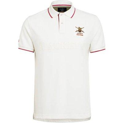 Hackett London Piqué-Poloshirt Army Classic Fit weiss