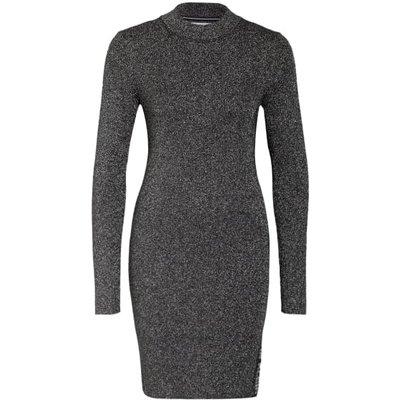 Calvin Klein Jeans Kleid Mit Glitzergarn silber | CALVIN KLEIN SALE
