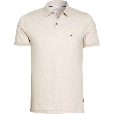 Calvin Klein Jersey-Poloshirt Slim Fit beige   CALVIN KLEIN SALE