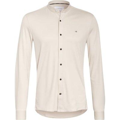 Calvin Klein Jerseyhemd Slim Fit Mit Stehkragen beige | CALVIN KLEIN SALE