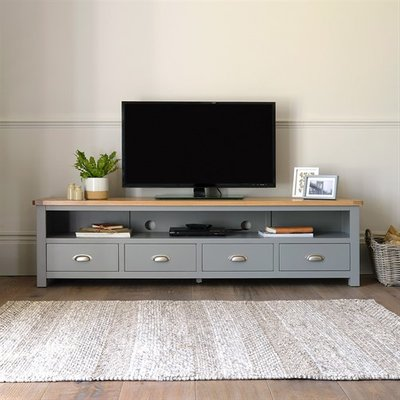 Florence Grey Extra Large TV Stand - Up to 80''
