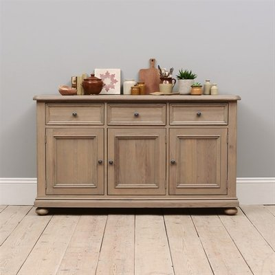 Hadley Smoked Oak Large Sideboard with 3 Doors and 3 Drawers