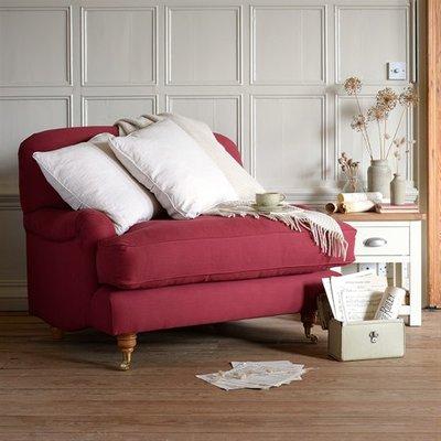 Bampton Love Seat Snuggler Chair - Linen