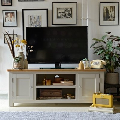 Lundy Stone Large TV Unit - Up to 57