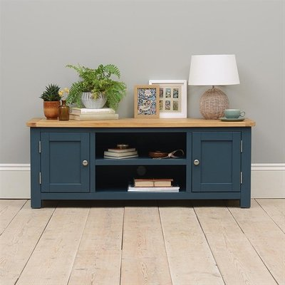 Westcote Blue Large TV Unit - Up to 57''