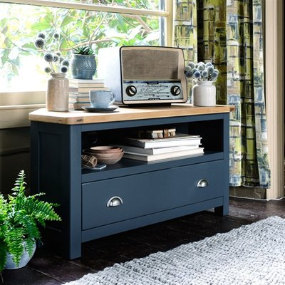 Westcote Blue Corner TV Unit - Up to 44''