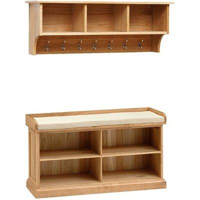 Appleby Oak Shoe Storage Set