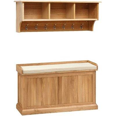 Appleby Oak Hallway Storage Set