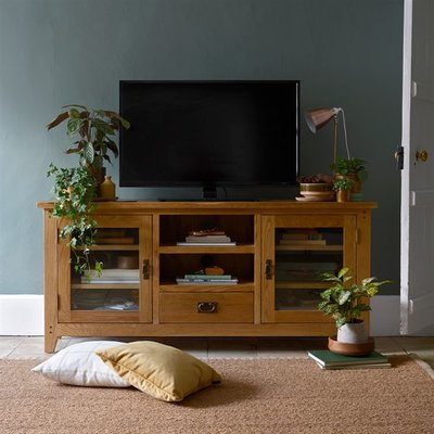 Oakland Glass TV Stand - Up to 65
