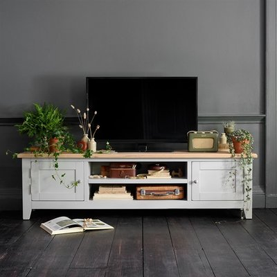 Chester Grey Low Wide TV Unit - up to 80